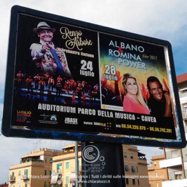 Manifesto artistico Renzo Arbore   Al Bano & Romina Power
