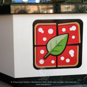 Grafica pizzeria Roma Integlia