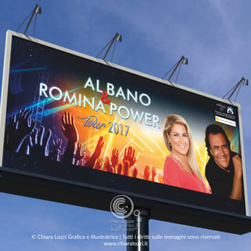Grafica Tour Al Bano & Romina Power