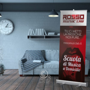 Roll-up Rosso Music Lab
