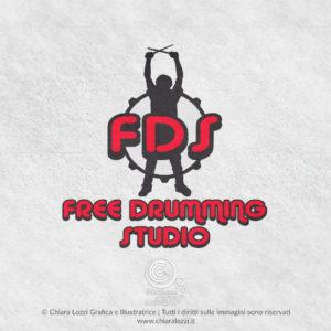 Logo Free Drumming Studio